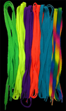 Bright Rainbow Neon Shoelaces