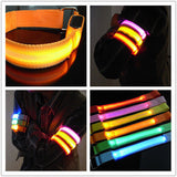 LED Light Up Wrist Band - Be SEEN At Night! Super Bright!