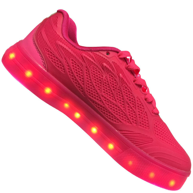 "Kids Pink ""Wax"" Neon Shoes LED Sneaker"