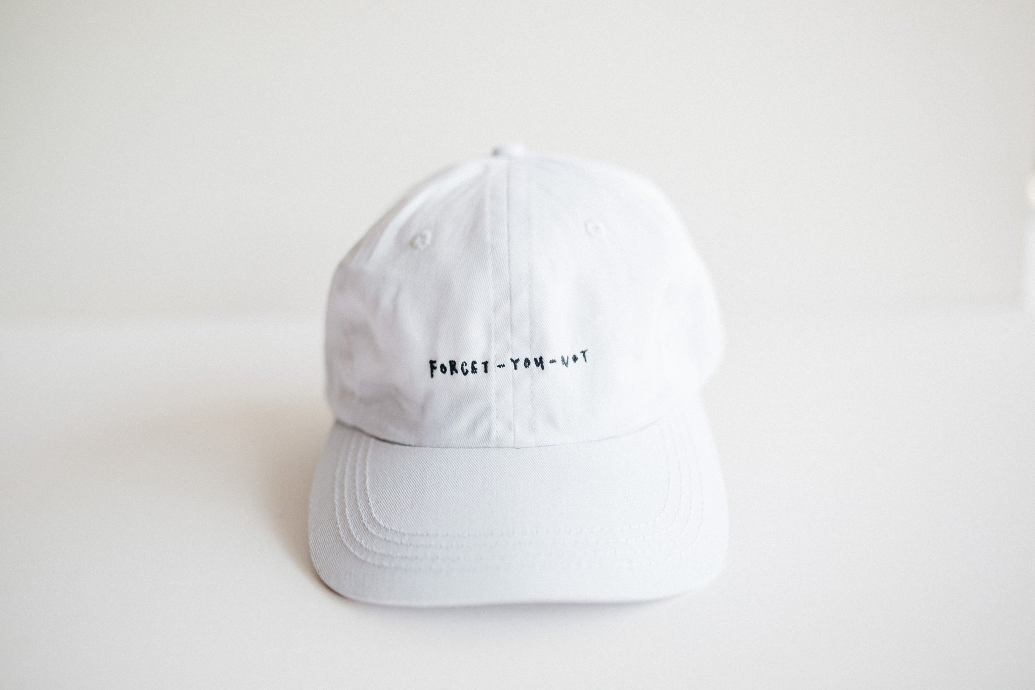 Forget-You-Not Cotton Ball Cap (White) – xhundredfold 8be9dea515a5