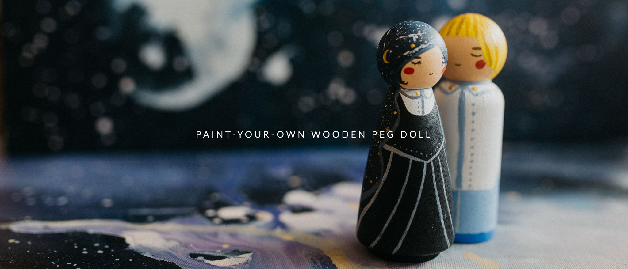 Paint Your Own Wooden Pegdoll