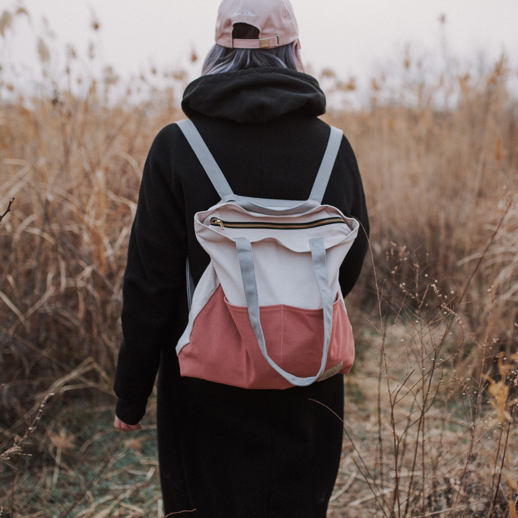 COTTON BAG: TRAVELLER BASIC BACKPACK - SPRING MULTI