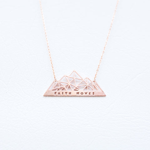 """Faith Moves"" Necklace"