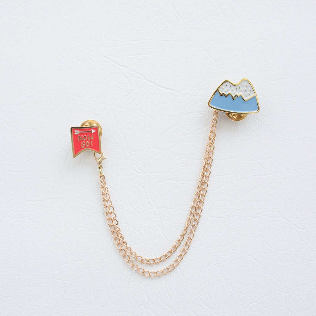 """Now Go!"" Collar Brooch"
