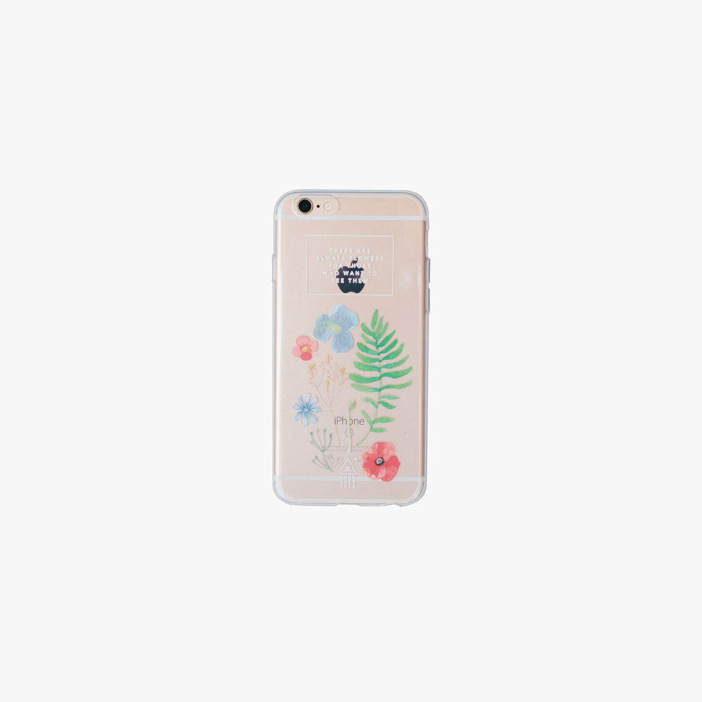 Wild Flowers Jelly Phone Case - iPhone 7