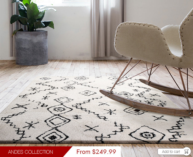 Modern Weave Andes Collection Super Soft Microfiber Morrocan Floor Rug AND04