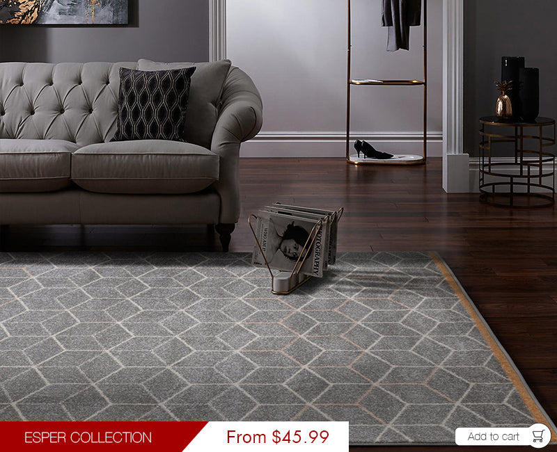 Esper Collection Modern Rugs Grey ESP03