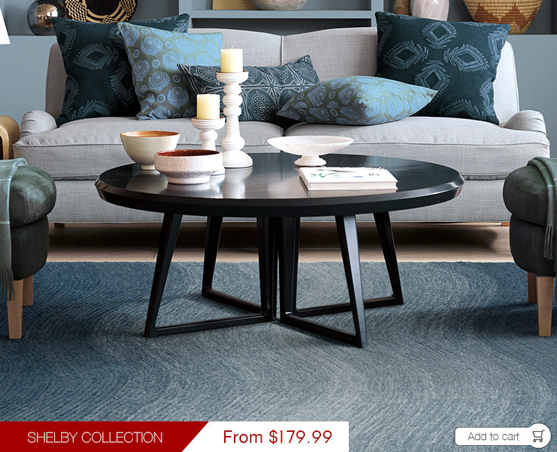 Shelby Collection Modern Floor Rugs Blue Wave SHE02