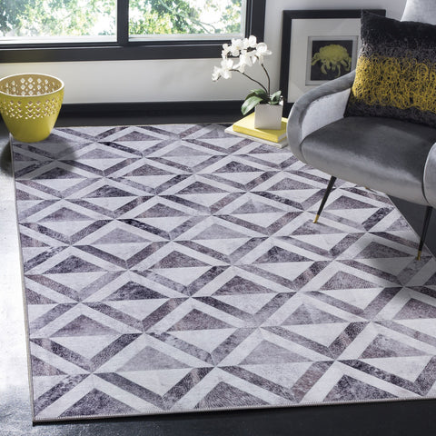 Large Cowhides Rug Grey Ivory Patchwork Soft Diamond Lounges Carpet Mat 4 Sizes COR03