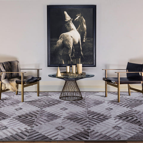 Large Faux Cowhides Rugs Mocha Charcoal Stunning Striped Modern Carpet 4 Sizes Modern Weave- Rugaustralia