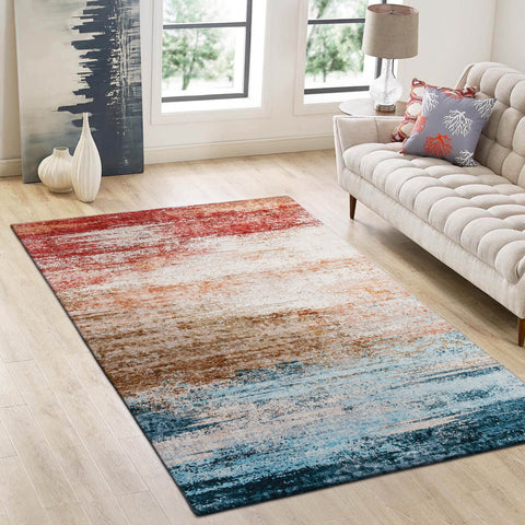 Floor Rug Abstract Runner Rainbow Gradient Print Morden Carpet Area Rug Mat LEO02