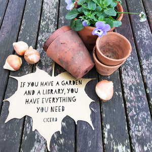 Leaf Quotes & Bunting - Inspiration for your garden and home...