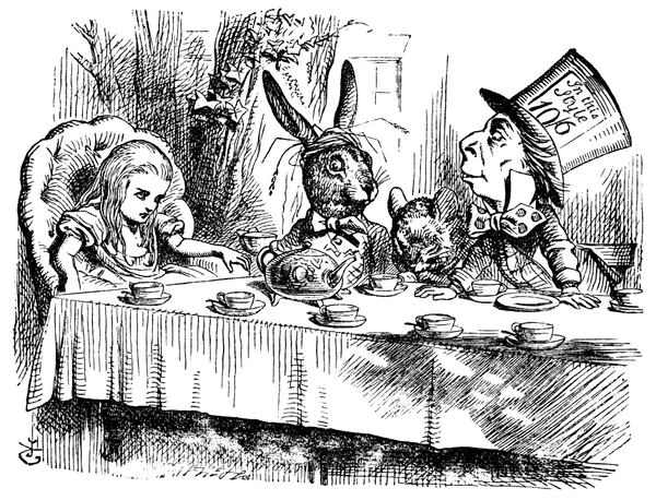 The Tea Part from Alice in Wonderland with the March Hare...