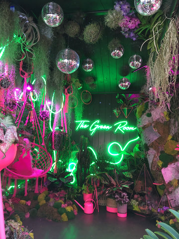 """Image of the interior of """"The Green Room"""" at RHS Chelsea Flower Show 2021"""