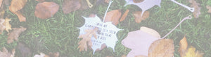 Maple leaves with quotations