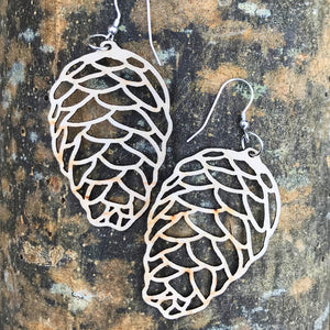 Nature Inspired Eco Plywood Earrings
