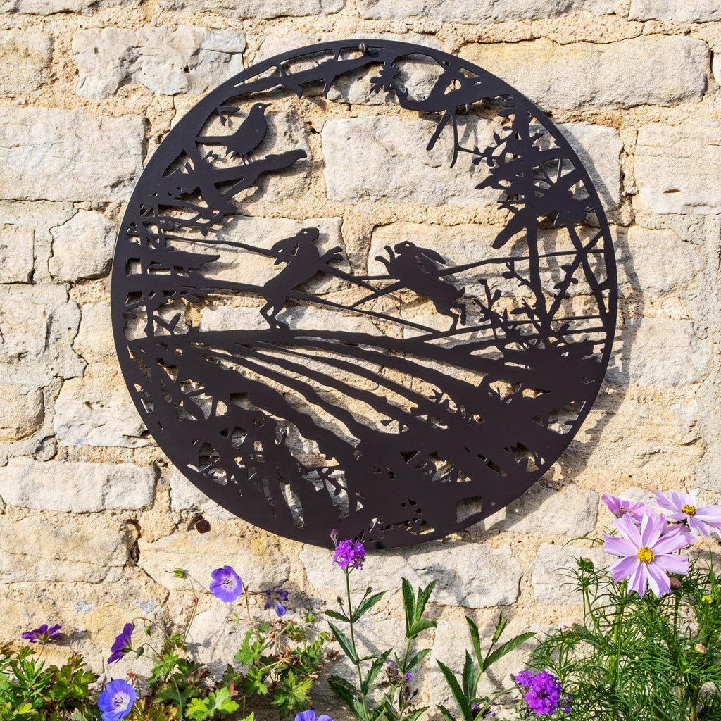 Wall Art - Hares boxing in a field