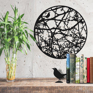 Wall Art - Hedgerow with Edward Thomas Adlestrop quote - and for that minute a blackbird sang