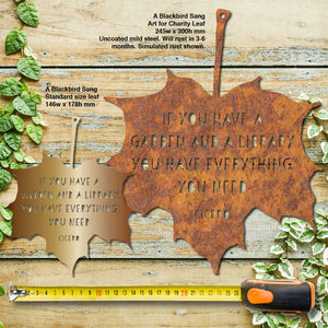 Art for Charity - Leaf Quotes - Maple