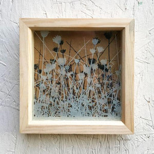Etched Glass - Oxfordshire Grasses