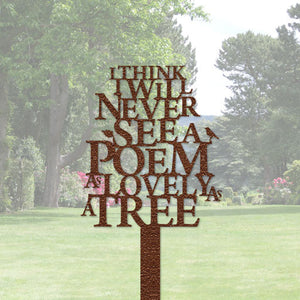Poem - Lovely as a tree