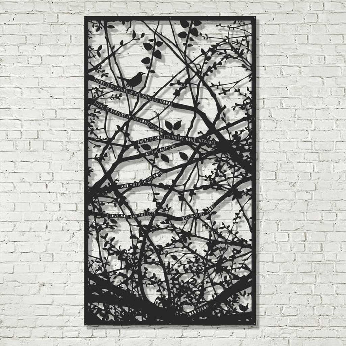 Screen Art - Hedgerow with Byron, Blackbird, and Wren