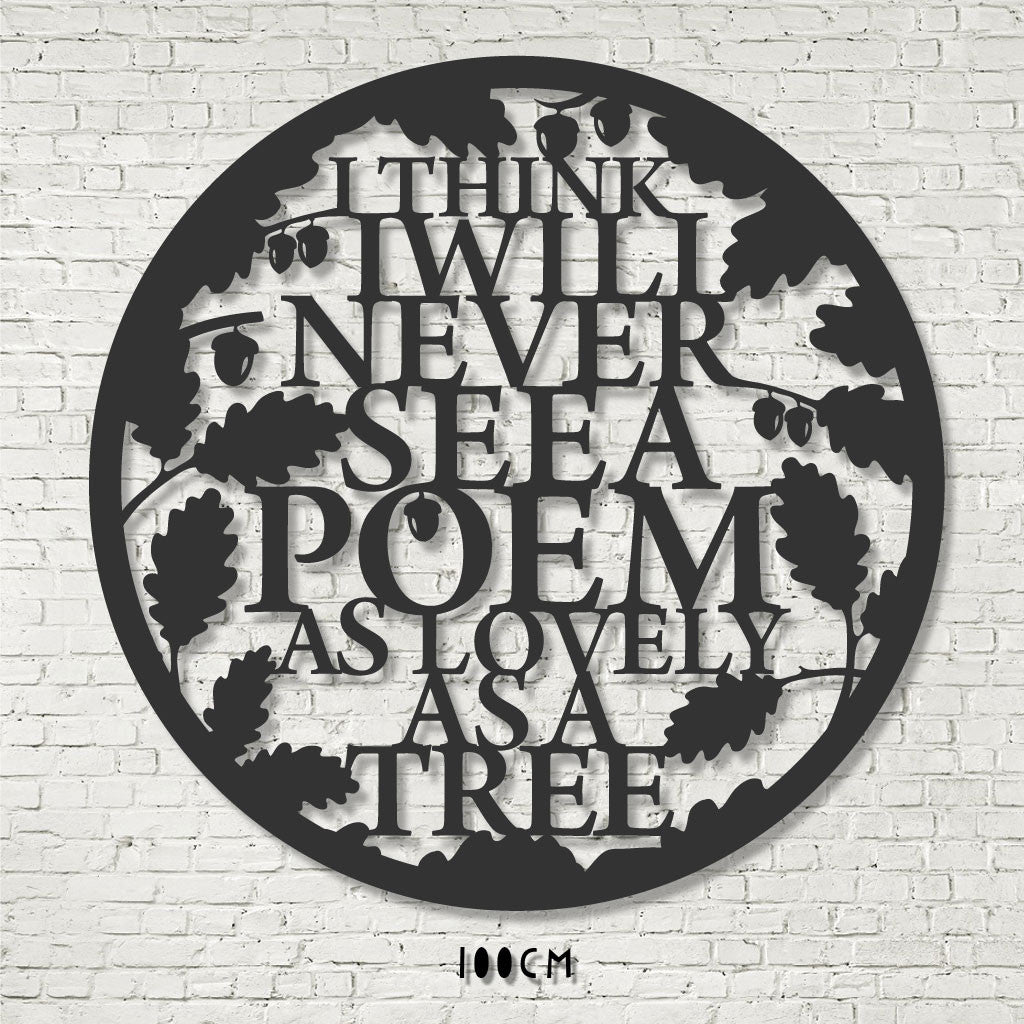 Wall Art - Tree Poem