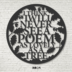 Wall Art - Tree Poem - Joyce Kilmer