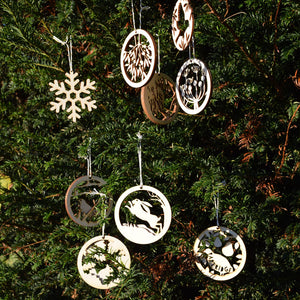 Christmas Decorations - A squirrel with oak leaves and acorn - Layered Poplar Eco Plywood