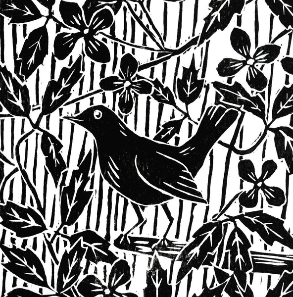 Greeting Cards - Linocuts, Hedgerows and Poetry - Black and White range