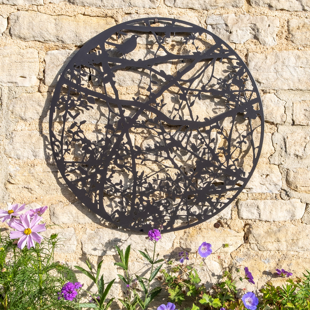 Wall Art - Oxfordshire Hedgerow with Blackbird and Wren