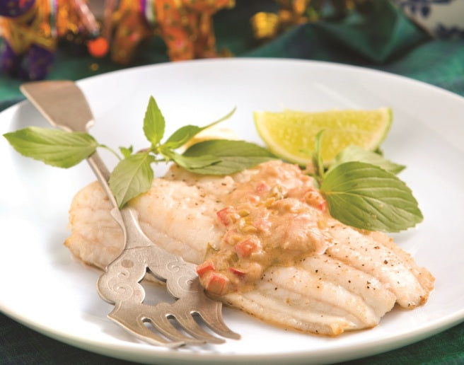 Grilled Fish with Candle Nut Sauce