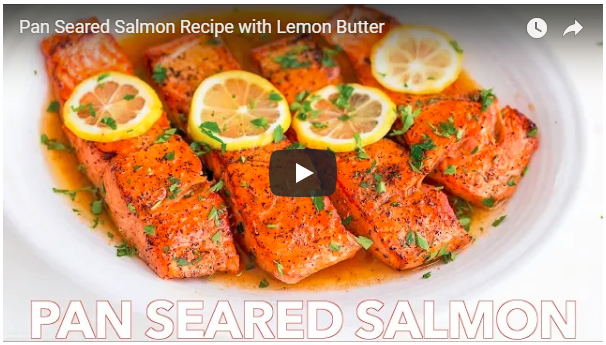 Pan Seared Salmon with Lemon Butter (VIDEO)