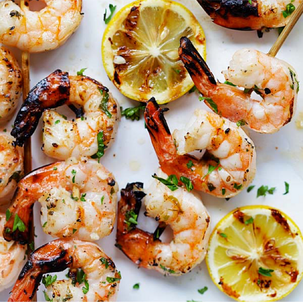 Garlic Butter Shrimp Kebab
