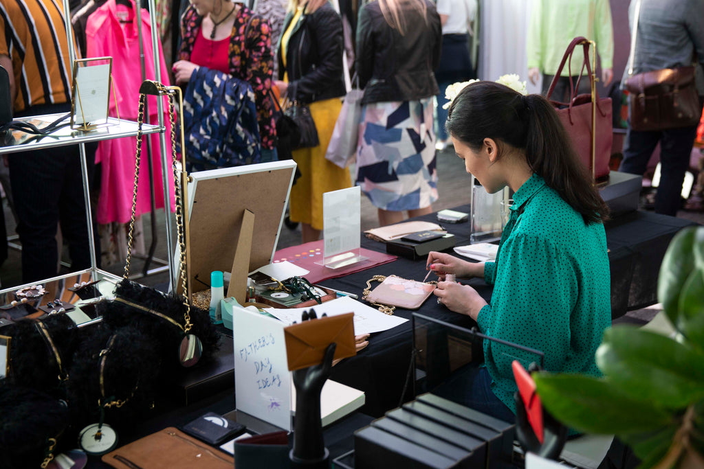 Live Handpainted Monogramming at New Zealand Fashion Week 2018
