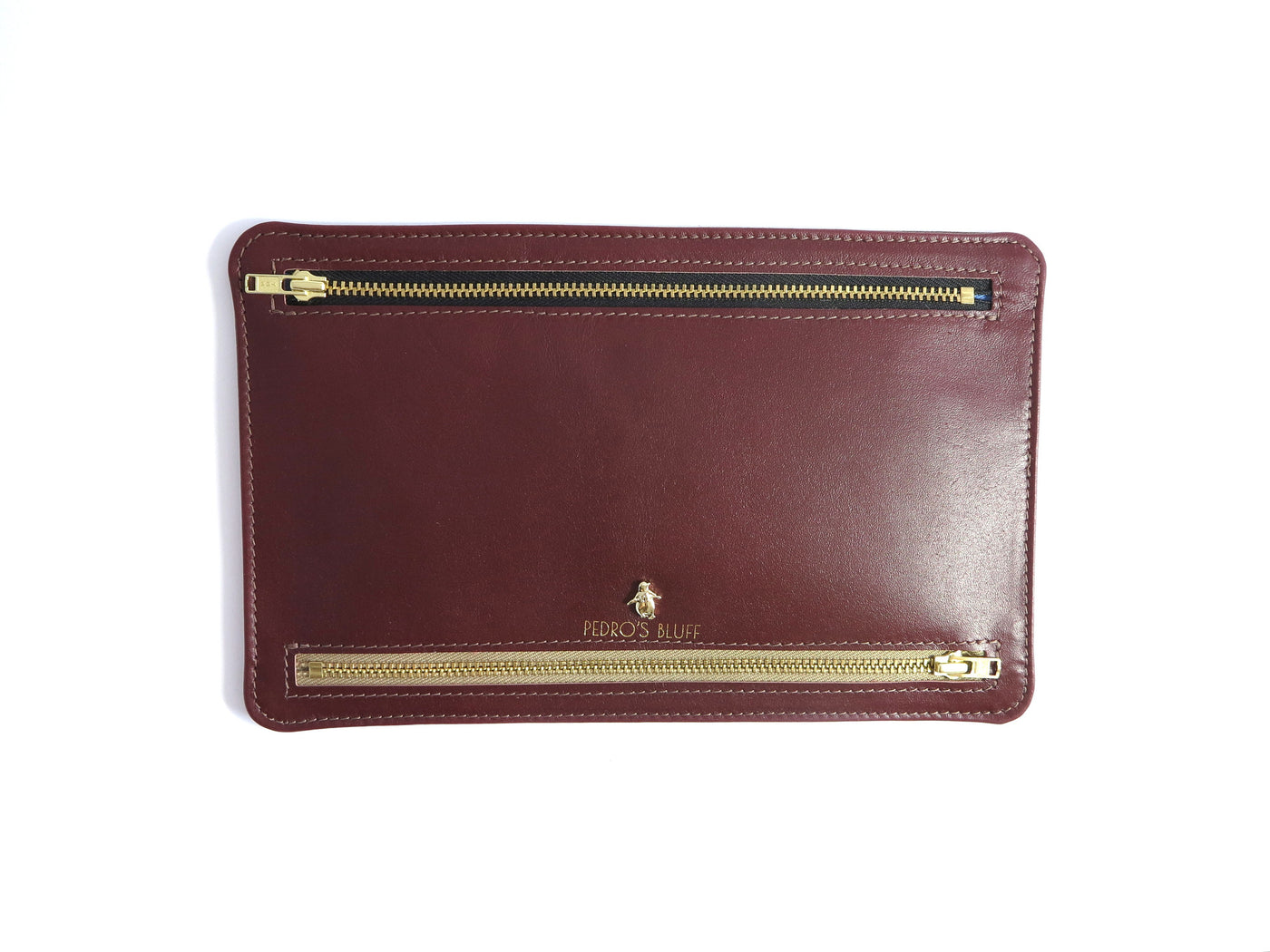 Globehopper Wallet - Wine Red Lambskin / Dark Brown Deer Nappa - PEDRO'S BLUFF - New Zealand Leather Bags & Accessories