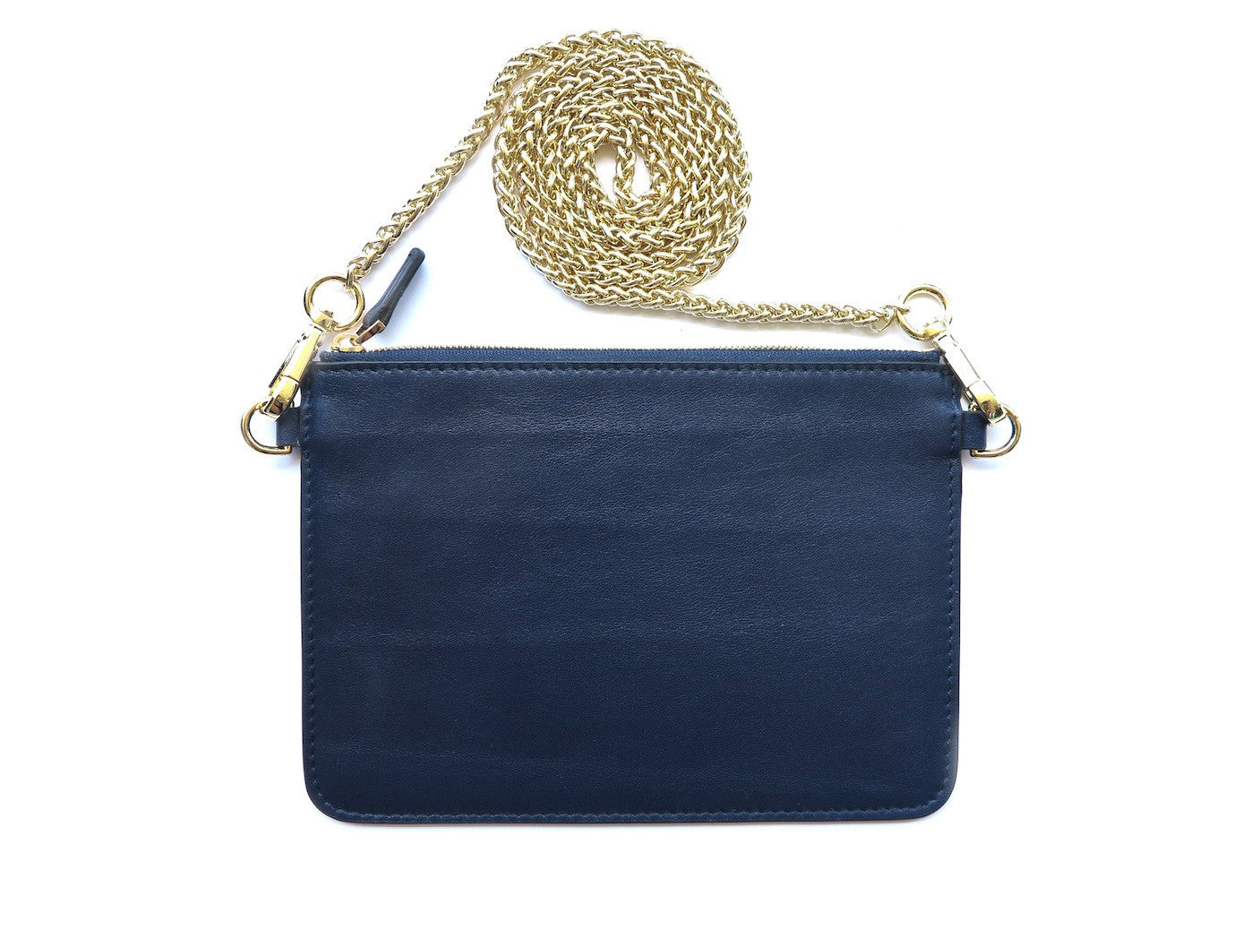 Soirée Pochette - French Navy - PEDRO'S BLUFF - New Zealand Leather Bags & Accessories