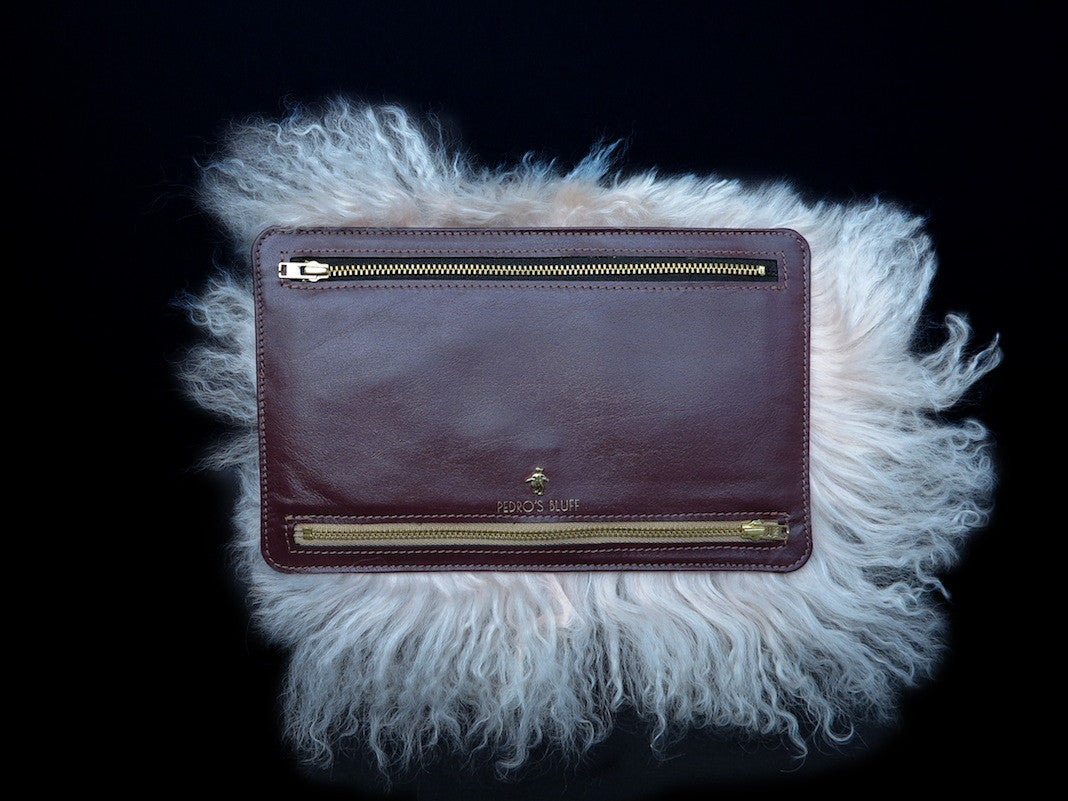 Globehopper Wallet - Candyfloss Lamb - PEDRO'S BLUFF - New Zealand Leather Bags & Accessories
