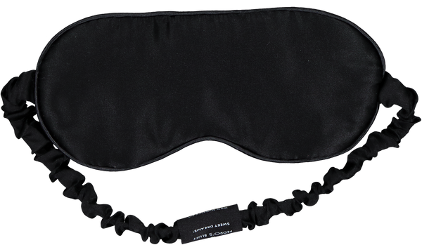 Mulberry Sleep Mask - Black - PEDRO'S BLUFF - New Zealand Leather Bags & Accessories