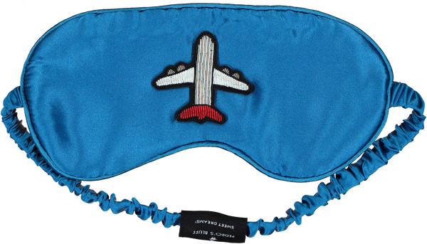 Mulberry Sleep Mask - Fly Away (Blue) - PEDRO'S BLUFF - New Zealand Leather Bags & Accessories