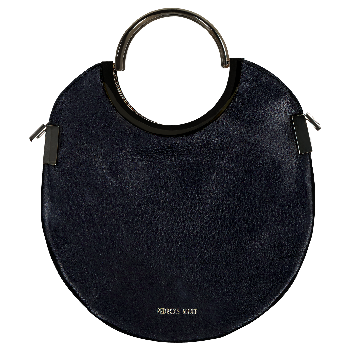 Vongole Circle Tote - Black - PEDRO'S BLUFF - New Zealand Leather Bags & Accessories