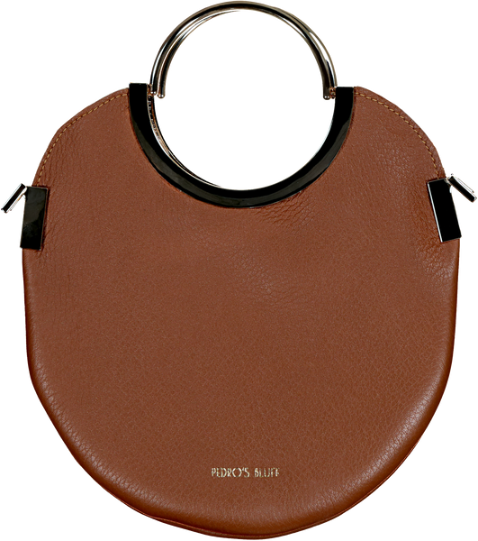 Vongole Circle Tote - Chestnut - PEDRO'S BLUFF - New Zealand Leather Bags & Accessories