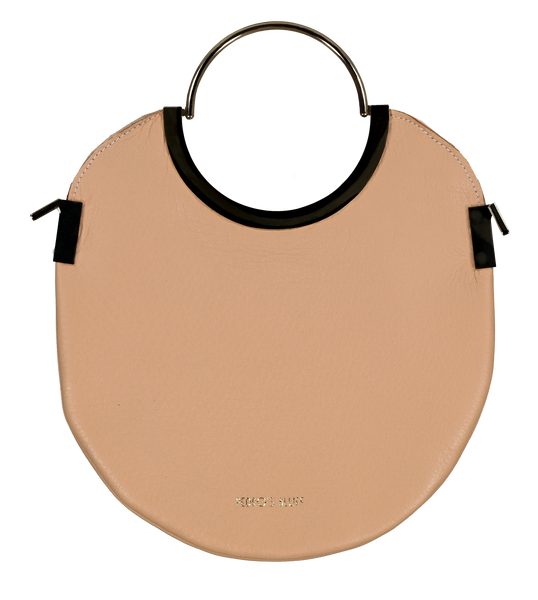 Vongole Circle Tote - Fawn - PEDRO'S BLUFF - New Zealand Leather Bags & Accessories
