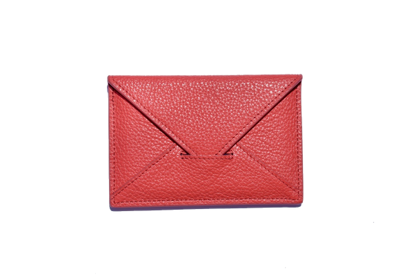 Envelope Cardholder - Red - PEDRO'S BLUFF - New Zealand Leather Bags & Accessories