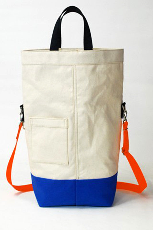 ChesterWallace Upright Totes / Natural with Bluebird