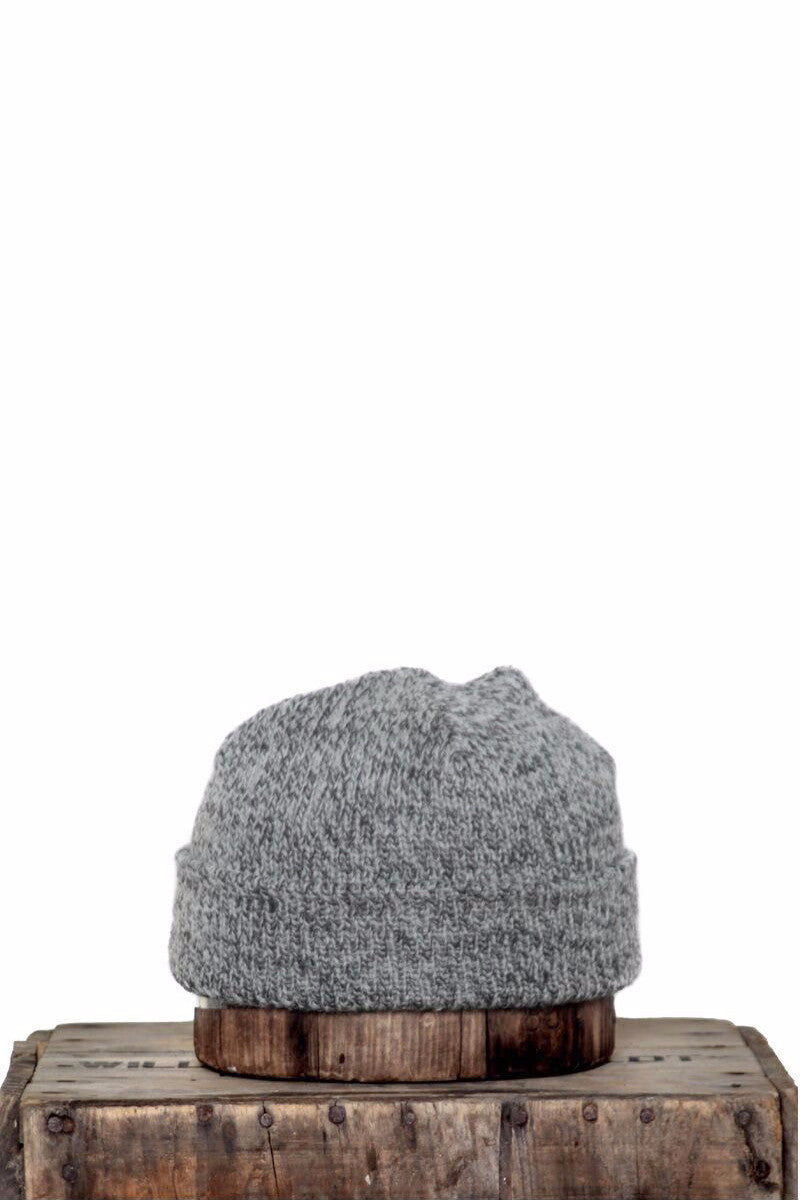 UPSTATE STOCK RAGG WOOL BEANIE IN CHARCOAL MELANGE