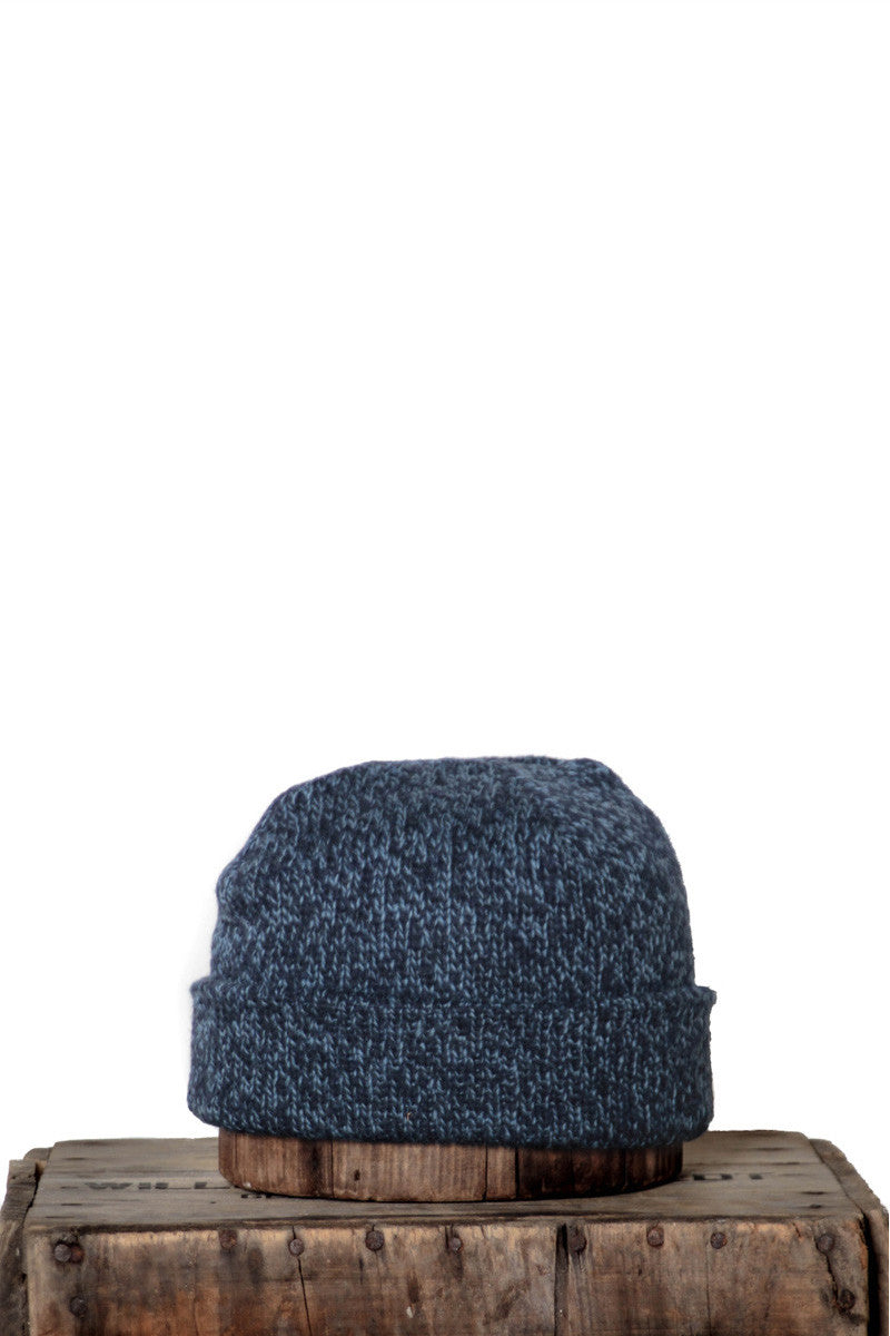 UPSTATE STOCK RAGG WOOL BEANIE IN POWDER MELANGE