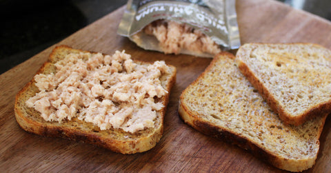 Tuna in Coconut Oil on Toast