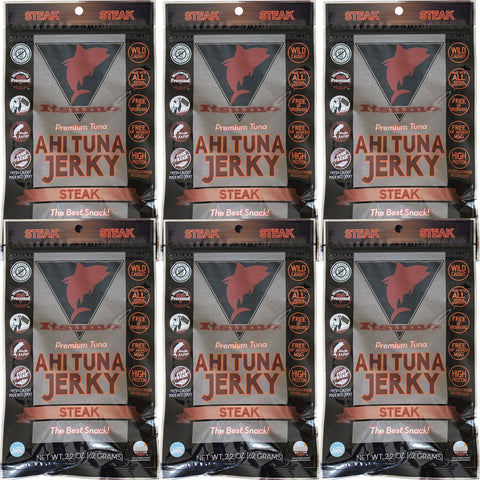 Wild Ahi Tuna Jerky - Paleo Steak (6 Packs)