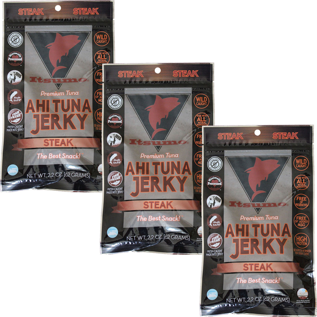 Wild Ahi Tuna Jerky - Paleo Steak (3 Packs)